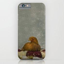 Christams winter chicken  iPhone Case