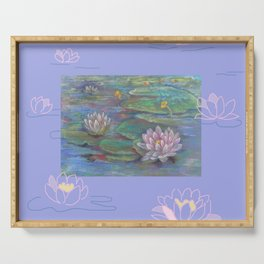 Water Lily Lotus Flower Serving Tray
