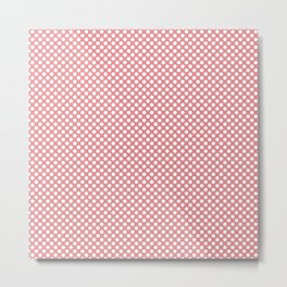 Strawberry Ice and White Polka Dots Metal Print