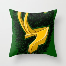 Loki's Helmet (Thor / the Avengers) Throw Pillow