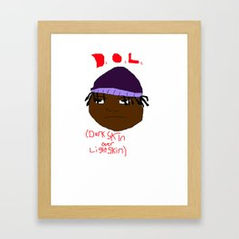 Dark skin over Light skin Framed Art Print