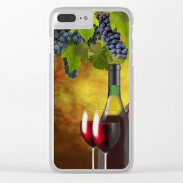 Evening Wine Tasting Art Clear iPhone Case