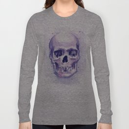 Skull Watercolor Skulls Long Sleeve T-shirt