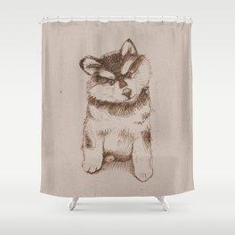 Husky puppy. Sketch. Shower Curtain