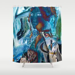 Torn Shower Curtain