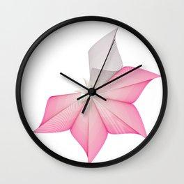 linear flower Wall Clock