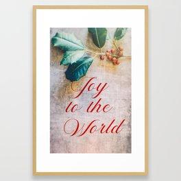 Joy to the World 2 Framed Art Print
