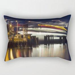Ferry Arrives Rectangular Pillow