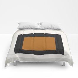 Block Colors - Black White Grey Ochre Comforters