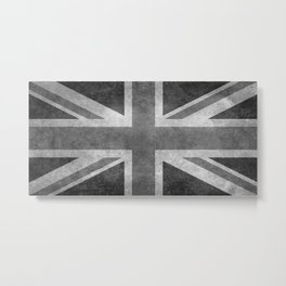 UK flag, High quality 1:2 Vintage Metal Print
