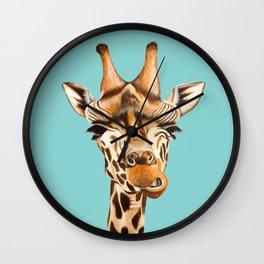 Giraffe Acrylic Painting Wall Clock