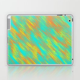 green blue orange and yellow painting texture abstract background Laptop & iPad Skin