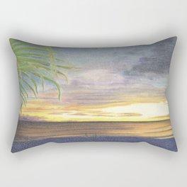 Beautiful Sunset at the Beach Rectangular Pillow