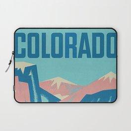 Cool Colorado Retro Vintage Travel Poster Laptop Sleeve