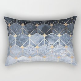 Blue Hexagons And Diamonds Rectangular Pillow