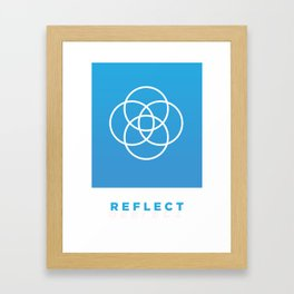 Reflect - A Simple Vector Poster Framed Art Print