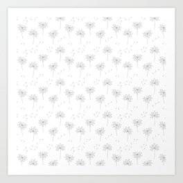 Dandelions in Grey Art Print