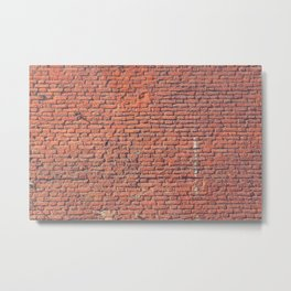 Red Brick Wall Texture Metal Print