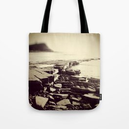 The Misty Shore Tote Bag