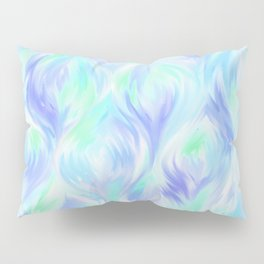 Preppy Blue Watercolor Abstract Ripples Pillow Sham