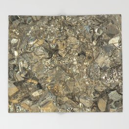 "Pyrite ""Fool's Gold"" Throw Blanket"