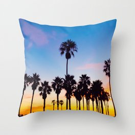 Venice Beach at Sunset Throw Pillow