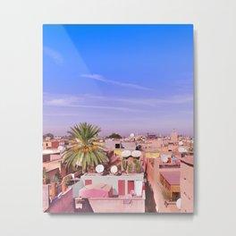 Marrakech Rooftop Metal Print