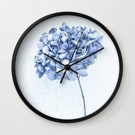 Hydrangea Blue 2 Wall Clock