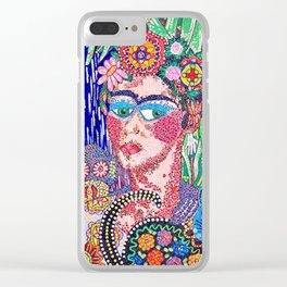 Frida Kahlo as Triste Allegria de Frida Clear iPhone Case