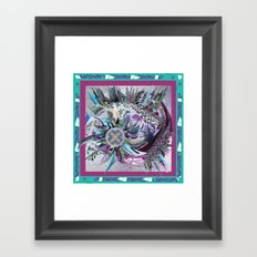 Manchester whirl Framed Art Print