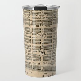 Vintage Map of Savannah Georgia (1818) Travel Mug