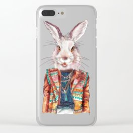 Bunny hippy (female) Clear iPhone Case
