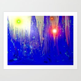 Faerie Light Forest Art Print