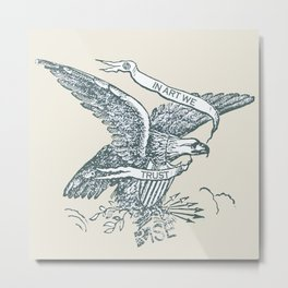 Rubino Rise In Art We Trust American USA Eagle Metal Print