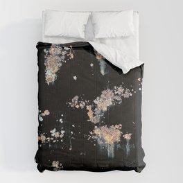 OXIDE ON BLACK BACKGROUND Comforters