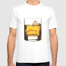 Old Scotch Whiskey White MEDIUM Mens Fitted Tee