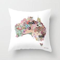 Australia map Throw Pillow