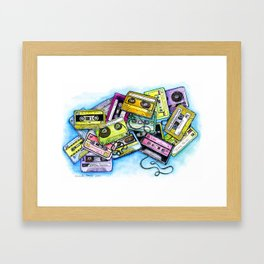Cassette Tapes Framed Art Print