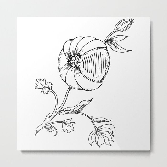 decorative berry with leaves Metal Print