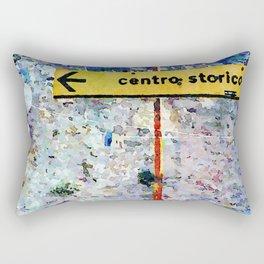Borrello: road sign and clothes pegs Rectangular Pillow