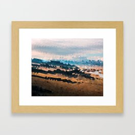 Mountain Waves Framed Art Print