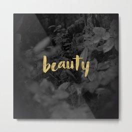 Beauty - Gold Handlettering - Voyageurs National Park Photograph Metal Print