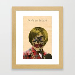 - la vie en écosse - Framed Art Print
