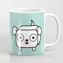Pitbull Loaf - White Pit Bull with Floppy Ears Coffee Mug