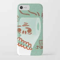 toilet iPhone & iPod Cases featuring Toilet Paper by YONIL