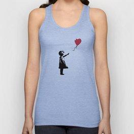 Girl With Red Balloon, Banksy, Streetart Street Art, Grafitti, Artwork, Design For Men, Women, Kids Unisex Tank Top