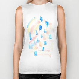 170322 Colour Study 1 |Modern Watercolor Art | Abstract Watercolors Biker Tank