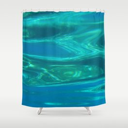Below the surface - underwater picture - Water design Shower Curtain