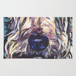 Wheaten Terrier Fun Dog Portrait bright colorful Pop Art Painting by LEA Rug