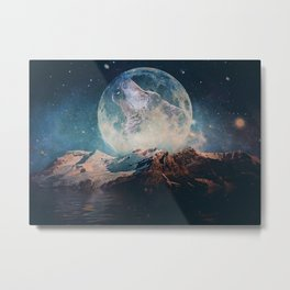 Lake Moon Metal Print